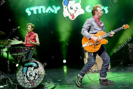 Slim Jim Phantom and Brian Setzer