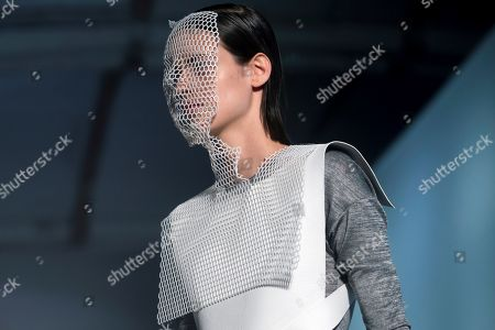 Stock Picture of A model presents a creation by Spanish designer Txell Miras during the 080 Barcelona Fashion, in Barcelona, Spain, 26 June 2019. The fashion event runs from 25 to 28 June.