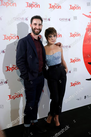 Dani Rovira (L) and Maria Leon (R) pose for the photographers during a photocall for the movie 'Los Japon' (Japan) in Madrid, Spain, 26 June 2019.
