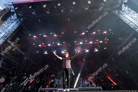 Jacoby Shaddix performs during the concert of the US rock band Papa Roach at the 27th VOLT Festival in Sopron, Hungary, 26 June 2019.