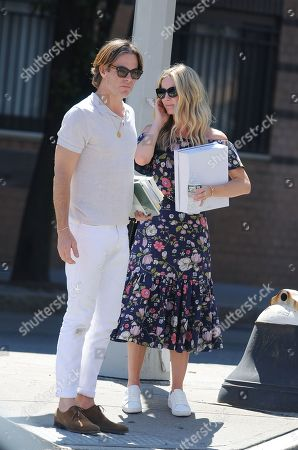 Editorial photo of Chris Pine and Annabelle Wallisout out and about, New York, USA - 26 Jun 2019