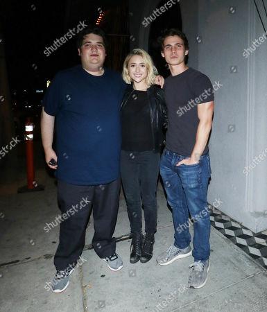 Stock Image of Michael Gruen, Tanner Buchanan and Lizzie Broadway