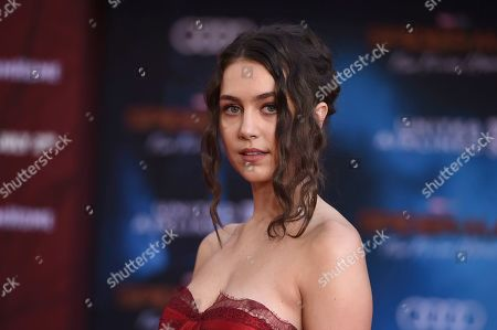 """Emma Fuhrmann arrives at the world premiere of """"Spider-Man: Far From Home"""", at the TCL Chinese Theatre in Los Angeles"""
