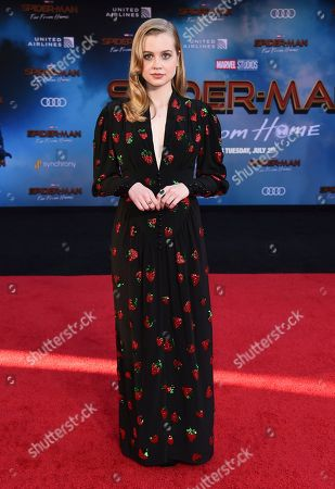 "Angourie Rice arrives at the world premiere of ""Spider-Man: Far From Home"", at the TCL Chinese Theatre in Los Angeles"