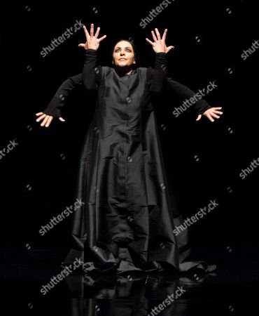 Spanish choreographer and flamenco dancer Eva Yerbabuena performs 'Cuentos de azucar' (Tales of Sugar) during the International Festival of Music and Dance of Granada at the Generalife Theatre in Granada, Spain, 26 June 2019.