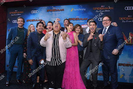 """Cast of """"Spider-Man: Far From Home"""" at the World Premiere of Columbia Pictures' """"Spider-Man: Far From Home"""" at the TCL Chinese Theatre.ÊThe film is in theaters Tuesday, July 2nd. (Photo by Stewart Cook/for Sony Pictures/Shutterstock)"""
