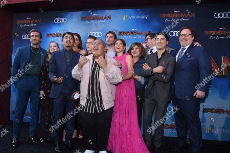 """Stock Picture of Cast of """"Spider-Man: Far From Home"""" at the World Premiere of Columbia Pictures' """"Spider-Man: Far From Home"""" at the TCL Chinese Theatre.ÊThe film is in theaters Tuesday, July 2nd. (Photo by Stewart Cook/for Sony Pictures/Shutterstock)"""