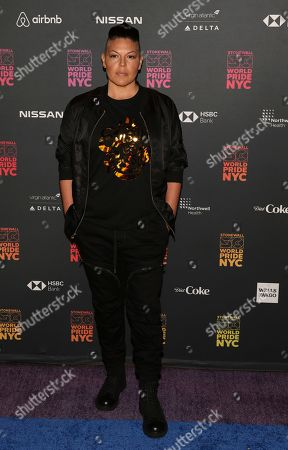 Sara Ramirez attends the WorldPride NYC 2019 opening ceremony at the Barclays Center, in New York
