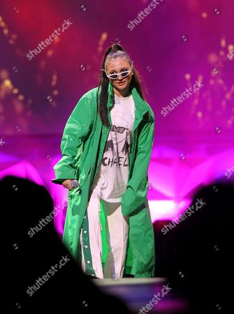 Daya performs at the WorldPride NYC 2019 opening ceremony at the Barclays Center, in New York