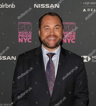 City Council Speaker Corey Johnson attends the WorldPride NYC 2019 opening ceremony at the Barclays Center, in New York