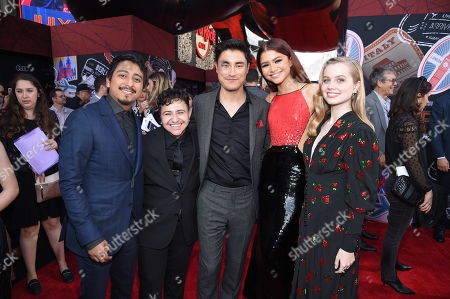 Tony Revolori, Zach Barack, Remy Hii, Zendaya and Angourie Rice