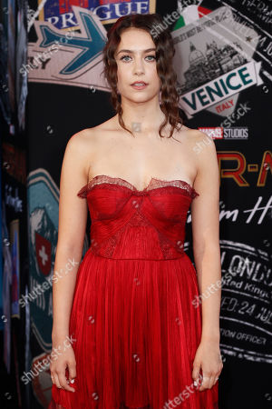 Emma Fuhrmann poses for the photographers on the red carpet prior to the premiere of 'Spider-Man: Far From Home' at the TLC Chinese Theater in Hollywood, California, USA, 26 June 2019. The movie will hit the theaters in the US on 02 June.
