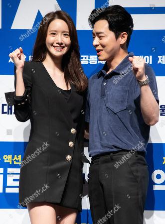South Korean actors Im Yoona (SNSD Yoona), Jo Jung-suk