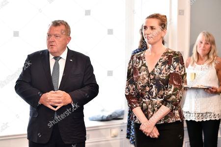Former Danish Prime Minister Lars Lokke Rasmussen (L) assigns newly elected Danish Prime Minister Mette Frederiksen (R) in Copenhagen, Denmark, 27 June 2019.