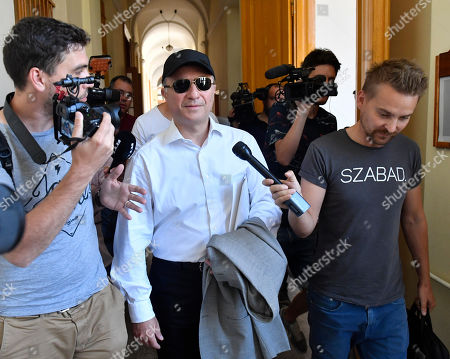 Stock Image of Former prime minister of North Macedonia Nikola Gruevski (C) leaves the Budapest-Capital Regional Court after his extradition trial in Budapest, Hungary, 27 June 2019. The court refused to extradite the fugitive ex-prime minister of North Macedonia to face justice in his home country, where he should have started a two-year prison sentence.
