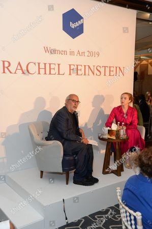 Alan Yentob and Rachel Feinstein