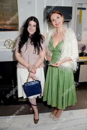 Stock Image of Svetlana Zakharova (right) and guest