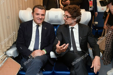 Gian Marco Centinaio and Danilo Toninelli during the Presentation of the Plan for the development of tourism