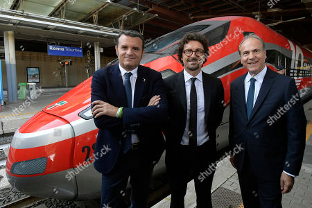 Gian Marco Centinaio, Danilo Toninelli and Gianfranco Battisti during the Presentation of the Plan for the development of tourism