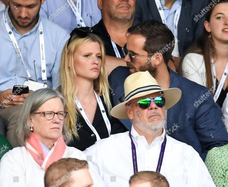 Lara Stone and David Grievson on Centre Court on Centre Court