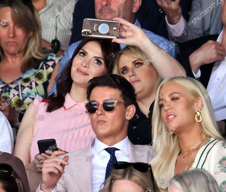 Carly Steel and Rebel Wilson on Centre Court