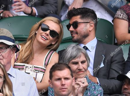 Katherine Jenkins and Andrew Levitas on Centre Court