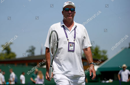 Stock Picture of Ivan Lendl in action during practice