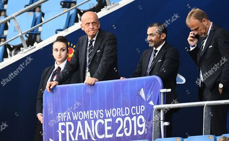 Chair of FIFA's refereeing committee Pierluigi Collina in the stands before kick off