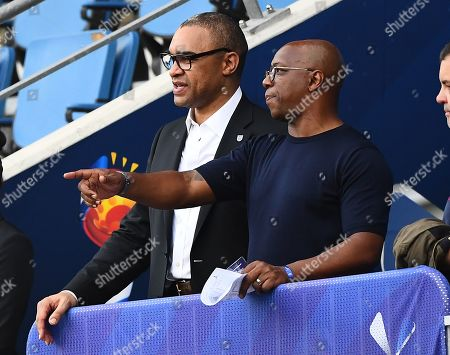 Paul Elliott and Ian Wright in the stands