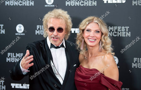 German TV presenter Thomas Gottschalk (L) and Karina Mross arrive for the Munich Filmfest Opening Night in Munich, Germany, 27 June 2019. Numerous national and international films will be shown at the festival until 06 July.