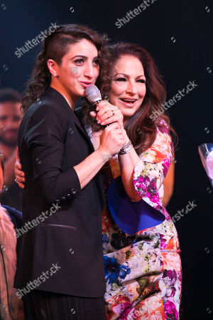 Emily Estefan and Gloria Estefan (Music) during the curtain call
