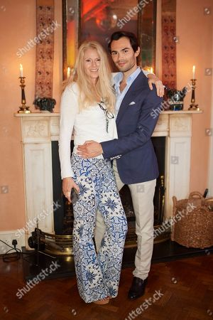 Stock Picture of Kate Braine and Mark-Francis Vandelli attend Kate Braine's Summer Exhibition 'Tendril Is The Night'