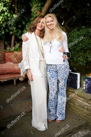 Trinny Woodall and Kate Braine attend Kate Braine's Summer Exhibition 'Tendril Is The Night'