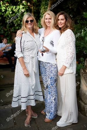 Susannah Constantine, Kate Braine and Trinny Woodall attend Kate Braine's Summer Exhibition 'Tendril Is The Night'