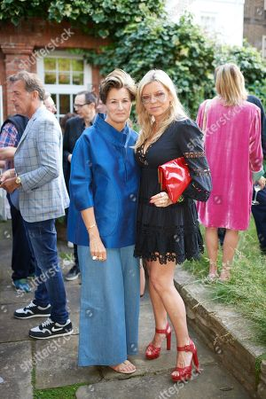 Alexandra Foulkes and Fru Tholstrup attend Kate Braine's Summer Exhibition 'Tendril Is The Night'