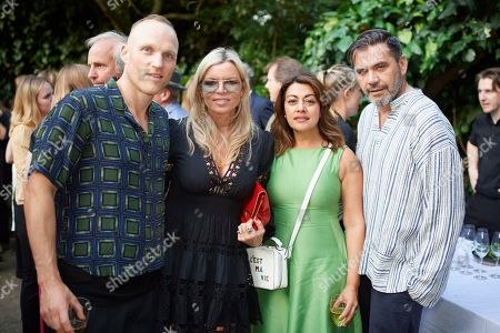 James Webster, Fru Tholstrup, Nazy Vassegh and Roland Mouret attend Kate Braine's Summer Exhibition 'Tendril Is The Night'