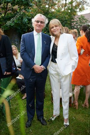 Simon Woolton and Carol Woolton the Earl and Countess of Woolton attend Kate Braine's Summer Exhibition 'Tendril Is The Night'