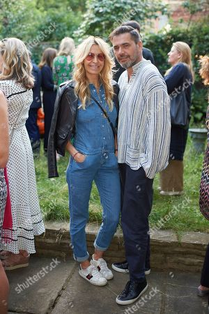 Melissa Odabash and Roland Mouret attend Kate Braine's Summer Exhibition 'Tendril Is The Night'