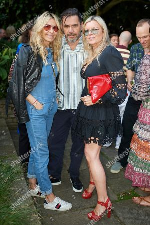 Melissa Odabash, Roland Mouret and Fru Tholstrup attend Kate Braine's Summer Exhibition 'Tendril Is The Night'