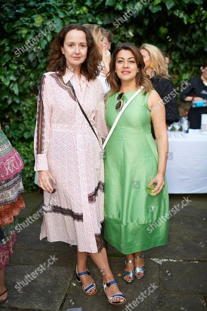 Jane Cowan and Nazy Vassegh attend Kate Braine's Summer Exhibition 'Tendril Is The Night'