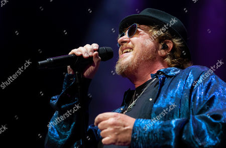 Joseph Williams of the US rock band Toto performs during their concert at the Papp Laszlo Budapest Sports Arena, in Budapest, Hungary, 27 June 2019.