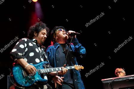 Steve Lukather (L) and Joseph Williams (R) of the US rock band Toto perform during their concert at the Papp Laszlo Budapest Sports Arena, in Budapest, Hungary, 27 June 2019.