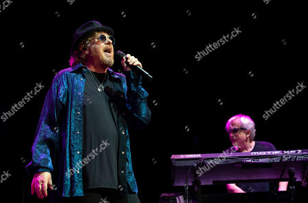 Joseph Williams (L) and Steve Porcaro of the US rock band Toto perform during their concert at the Papp Laszlo Budapest Sports Arena, in Budapest, Hungary, 27 June 2019.