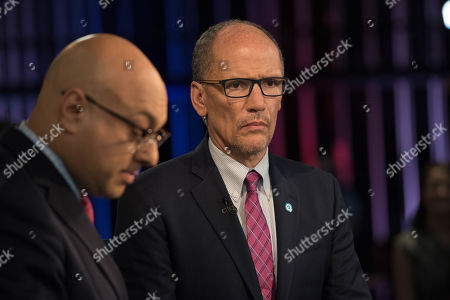 NBC correspondent Ali Velshi, left and Chair of the Democratic National Committee Tom Perez