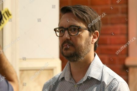"Wil Wheaton attends a one on one interview during the ""Big Bang Theory"" set visit and Q&A at the Warner Brothers Studios, in Burbank, Calif"