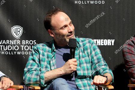 "Steven Molaro attends the ""Big Bang Theory"" set visit and Q&A at the Warner Brothers Studios, in Burbank, Calif"