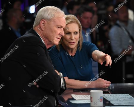 Stock Image of Chris Matthews and Senator Kirsten Gillibrand