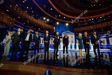 Michael Bennet, Joe Biden, Pete Buttigieg, Kirsten Gillibrand, Kamala Harris, John Hickenlooper, Bernie Sanders, Eric Swalwell, Marianne Williamson, Andrew Yang
