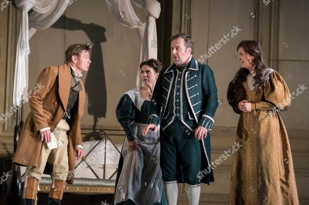 Simon Keenlyside as Count Almaviva, Joelle Harvey as Susanna, Christian Gerhaher as Figaro, Julia Kleiter as Countess Almaviva,