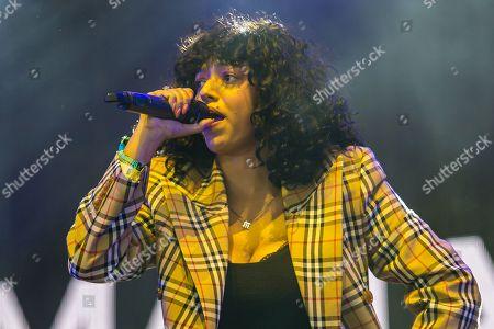 Mahalia Burkmar performing on the John Peel Stage